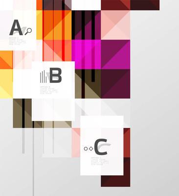 简约的方形形状抽象背景