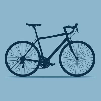 矢量图的巡洋舰自行车在平坦的风格。血管内皮细胞