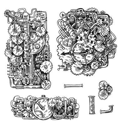 蒸汽朋克风格的插图