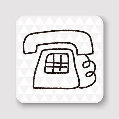 电话嘟嘟绘图矢量图矢量图