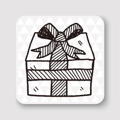 生日礼物涂鸦画矢量图