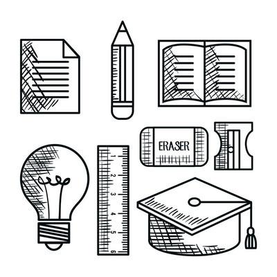 教育用品绘图图标