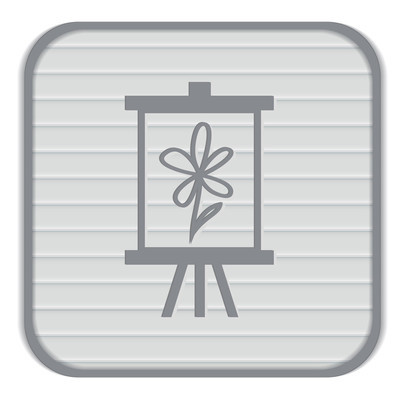 Easel with picture  Icon