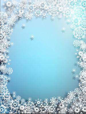 圣诞雪花背景。10 eps