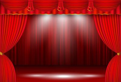 窗帘舞台幕布背景