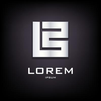 Conceptual sign of letter B logo design template