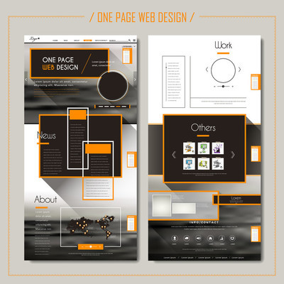 现代的单页网站设计
