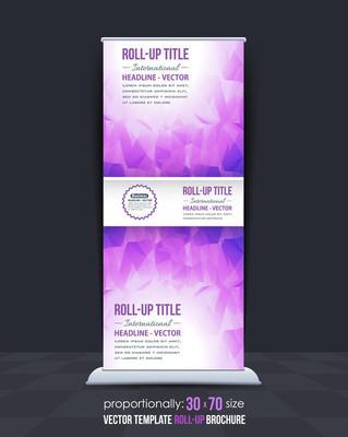 低聚风格业务易拉宝设计,平面广告横幅