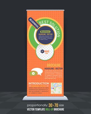 多彩多姿的业务易拉宝模板,垂直广告设计