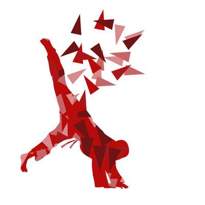 柔道的孩子矢量武术儿童斗争抽象插图 co