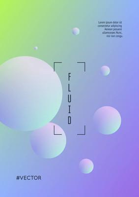 圆形形状的流体海报