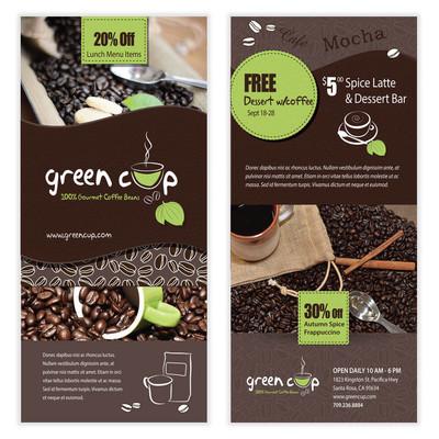 咖啡的传单模板设计