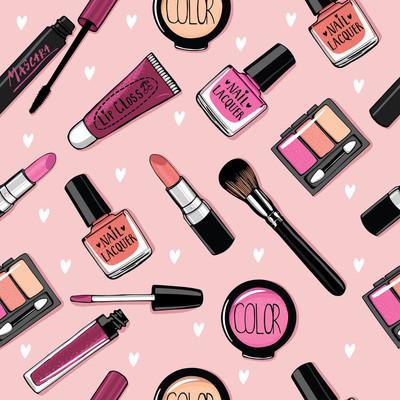 时装系列的化妆品