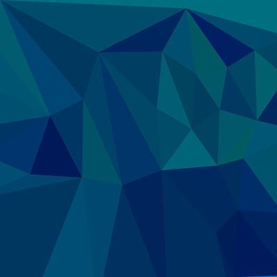 中等深青色蓝色抽象低多边形背景