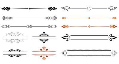 设置-矢量设计的几何分隔符