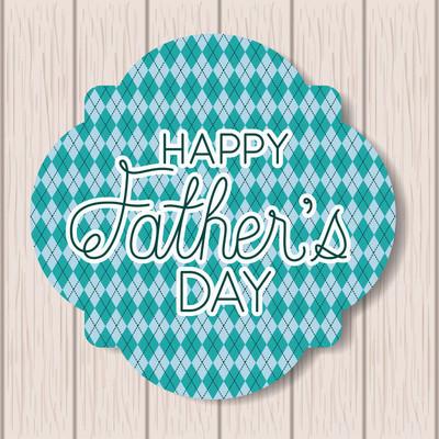 带木制背景和框架的快乐父亲节卡片