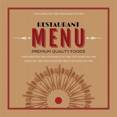 餐厅菜单卡片设计