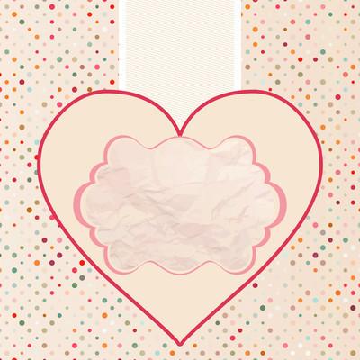 情人节卡片模板。Eps 8