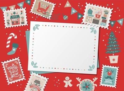 节日圣诞边界, 框架, 卡
