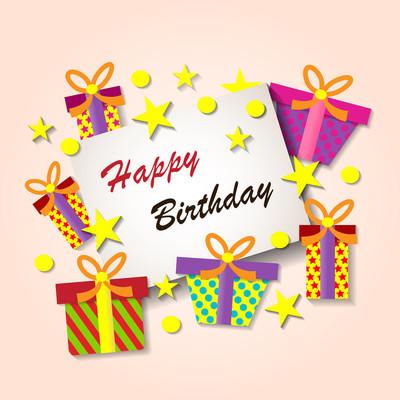 祝你生日快乐贺卡