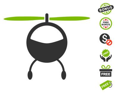 与免费奖金直升机图标