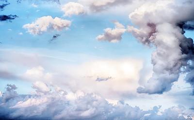 天空云朵艺术日出背景