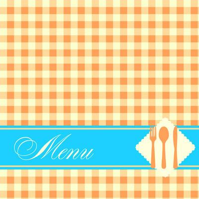 餐厅菜单模板矢量图