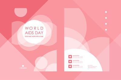 在世界艾滋病日风格海报