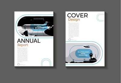 抽象的封面设计现代书籍封面抽象手册封面