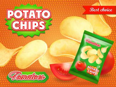 马铃薯薯片广告与西红柿广告