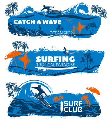 Surfing Banner Set