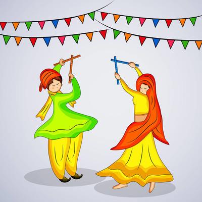 印度教节日为背景的插图