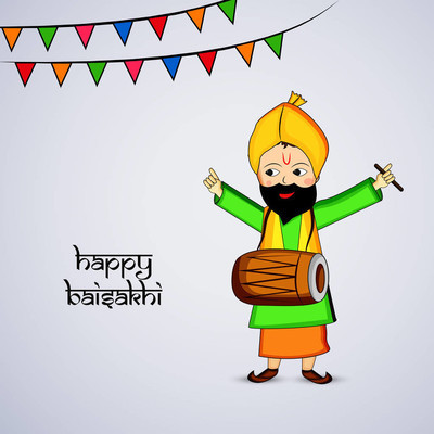 印度节日 Baisakhi 背景插图