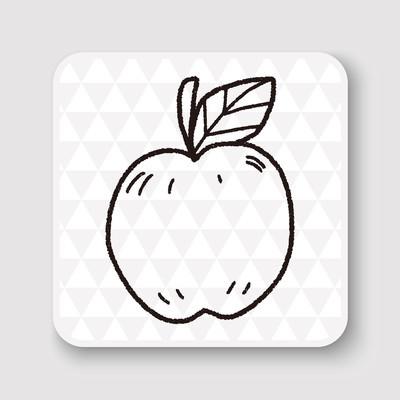 涂鸦苹果矢量图