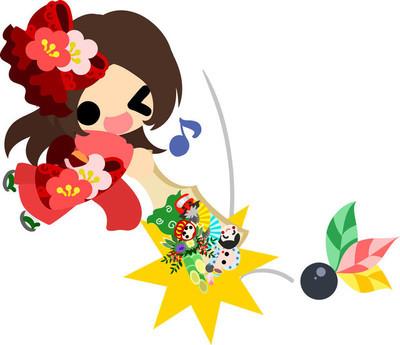 The stylish girls in Kimono(Japanese style cloth)