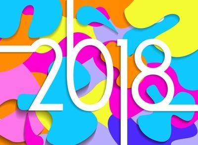 新年快乐2018彩色剪纸卡