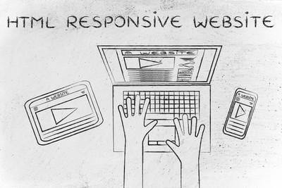 Html 有反应的网站的概念