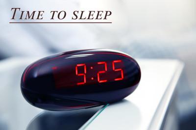 Digital clock  in bedroom