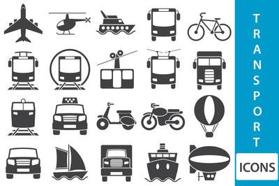 矢量交通工具图标