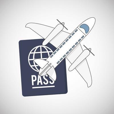 旅游设计。旅游图标。白色背景