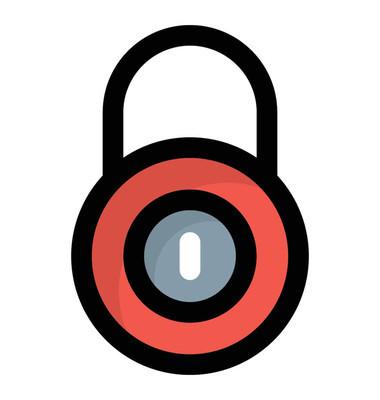 用于安全概念的锁的彩色设计图标