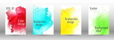 设计封面与水彩喷雾图片