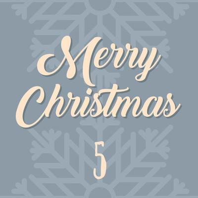 圣诞节海报。多彩的圣诞节到来日历。5 圣诞倒计时