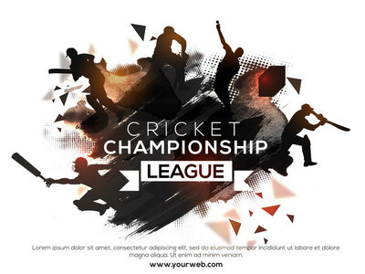 Poster, Banner or Flyer for Cricket Championship League.