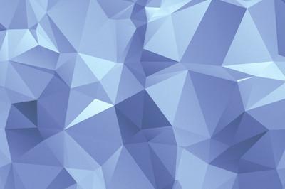 多边形几何抽象纹理的背景蓝色