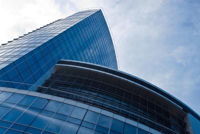 在布鲁塞尔的现代摩天大楼