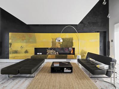 现代客厅的内部视图