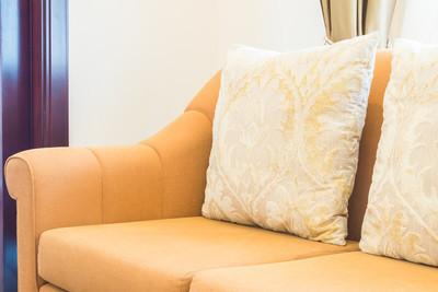 在客厅的沙发上的枕头