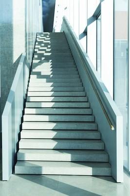现代楼梯, 蓝色色调的图像