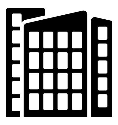 摩天大楼字形矢量图标